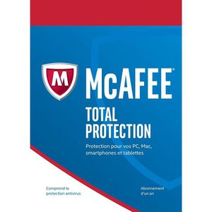 ANTIVIRUS McAfee Total Protection 2017 5 Postes / 1 An / Ver