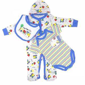 COFFRET CADEAU TEXTILE Ensemble cadeau de naissance bébé garçon pyjama bo