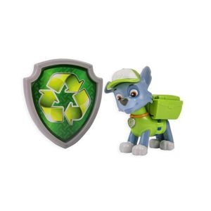 FIGURINE - PERSONNAGE Paw Patrol – Action Pack – Rocky – Figurine Sac à