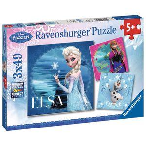 PUZZLE LA REINE DES NEIGES Puzzle 3x49 pcs Elsa, Anna et