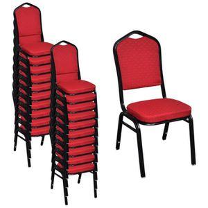 CHAISE 20pcs Chaises empilables et épais coussin Design e