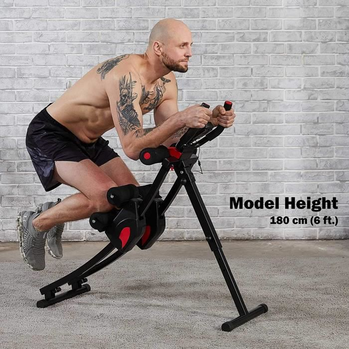 Machine d'Entraînement Abdominale Pliante AB Machine de Musculation pour Fitness Appareil à Abdominaux Vertical L'affichage Numériqu