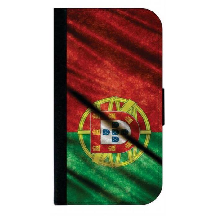 Bracelet De Montre Vendu Seul P4QSQ Portugal Drapeau de ondulation grunge Homme Imprimer - Passeport Couverture / titulaire de la ca