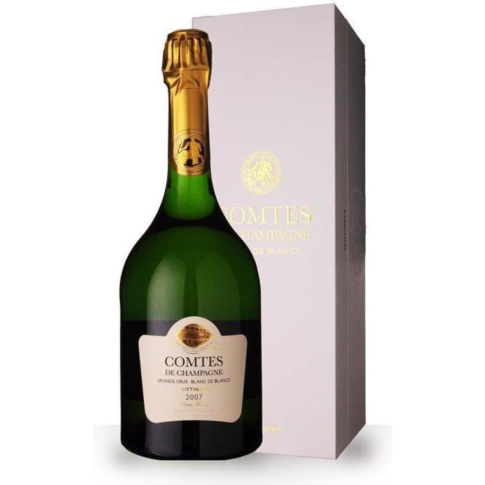 Taittinger Comtes de Champagne 2007 Blanc de Blancs - Coffret - 75cl - Champagne