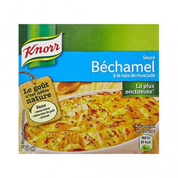Knorr Sauce Béchamel à la Noix de Muscade 50cl (lot de 6)