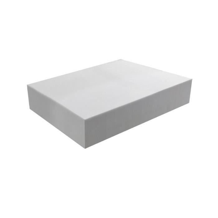 Plaque de mousse 30 kg/m³ - Epaisseur 15 cm 100 x 120 cm Gris