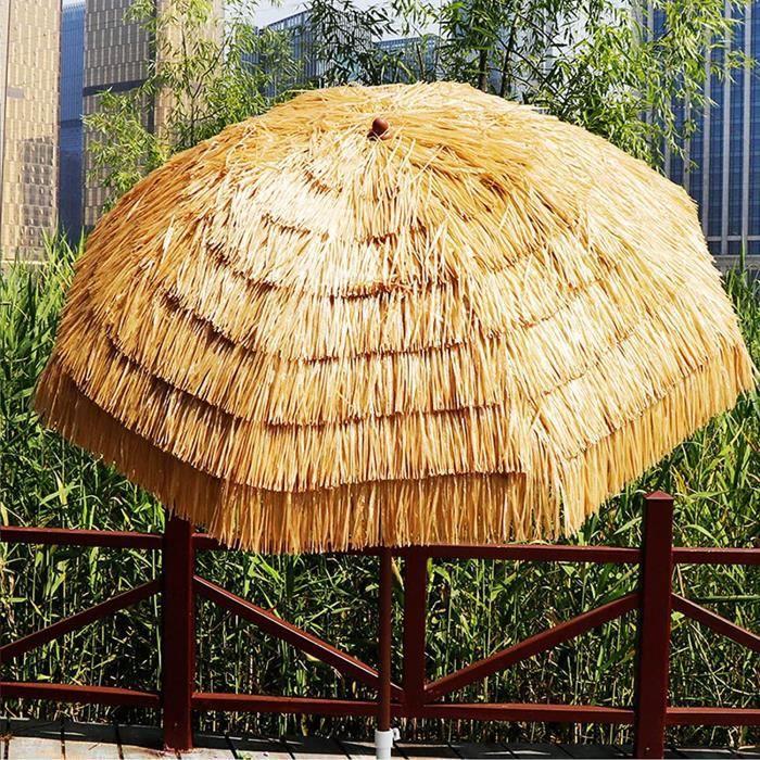 QIMO Parasol de Jardin Parasol, Parasol de Paille, Parapluie Parasol de Jardin Parasol de Paille Parasol de Paille pour Patio Pl586