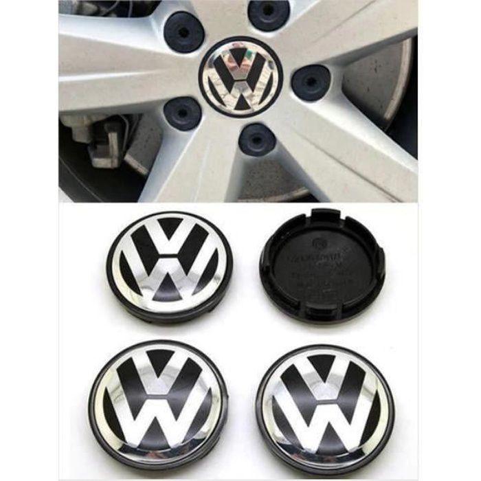 4 x 56mm VW Caches Moyeux Centre Roue Logo Emblème pour Volkswagen Passat B6 B7 CC Golf MK5 MK6 Tiguan #1J0601171