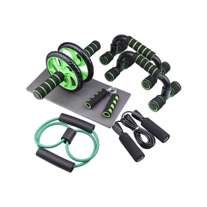 7 pièces-ensemble roue abdominale équipement de sport professionnel gymnastique à domicile Muscle Abdominal Fi JS10508