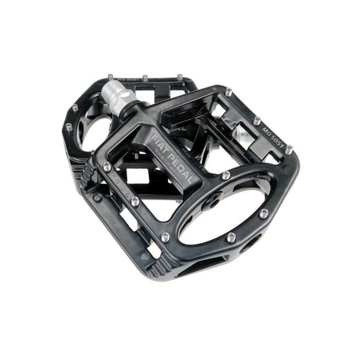 Pièce Détachée,Pédales de vélo ultralégères en alliage de magnésium VTT pédales plates antidérapantes vtt pédales de - Type Black
