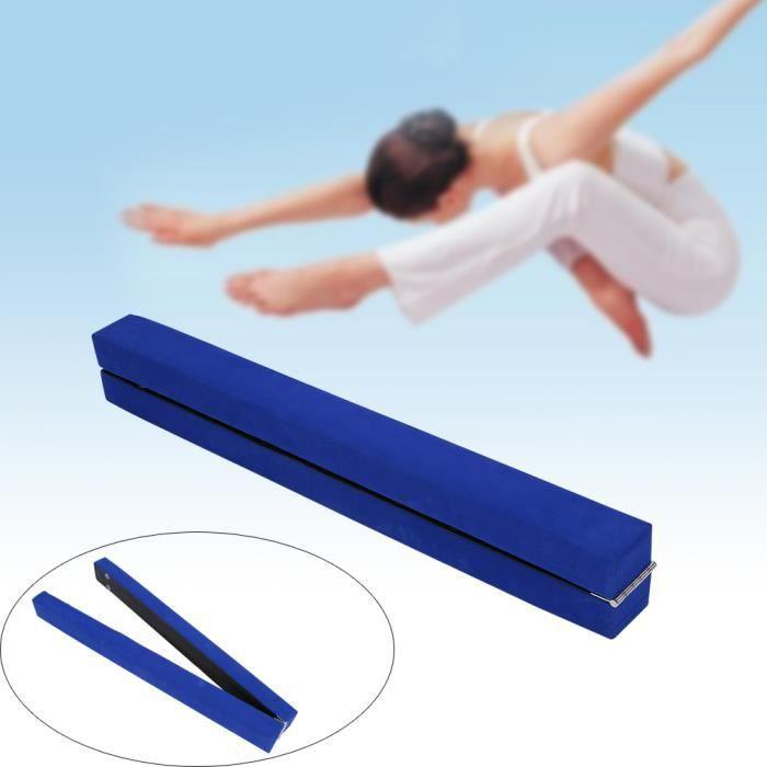 Équipement d'entraînement de gymnastique de gymnastique de poutre d'équilibre pliant en suède de 7FT