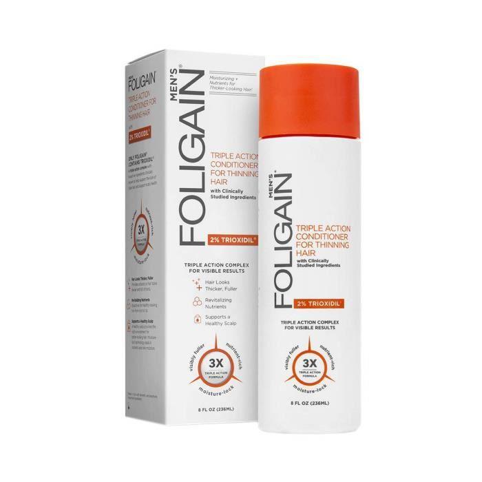 FOLIGAIN Après Shampoing Trioxidil Homme - Anti Chute de Cheveux - Contient des ingrédients Bioactifs Cliniquement étudiés - Sans