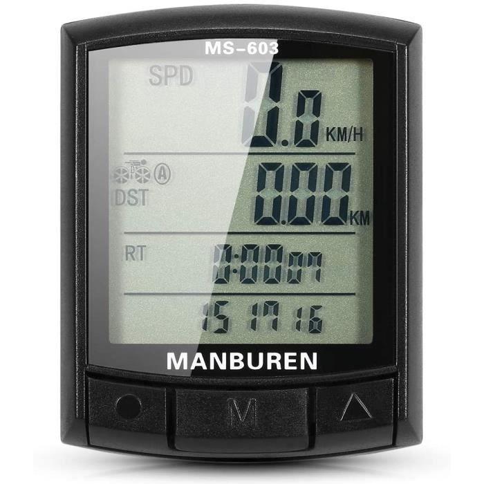 Vélo Ordinateur de vélo Compteur de Vitesse de vélo Compteur kilométrique VTT Vélo de Route Ordinateur de vélo Chronomètre sa