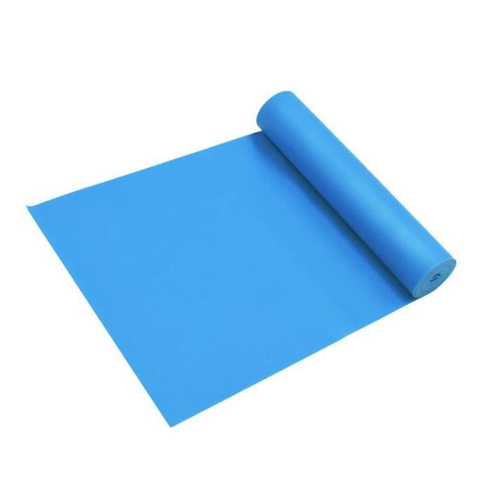 Bande Élastique Fitness Pilates Yoga - Bleu - Niveau De Force Moyen Bande De Résistance d'Exercices Pour Rééducation Physique