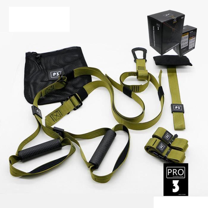Elastique de Résistance Musculation Fitness Pro 3 Vert