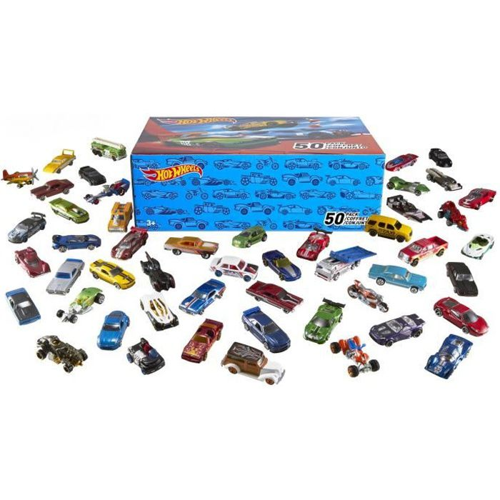 HOT WHEELS Coffret de 50 voitures