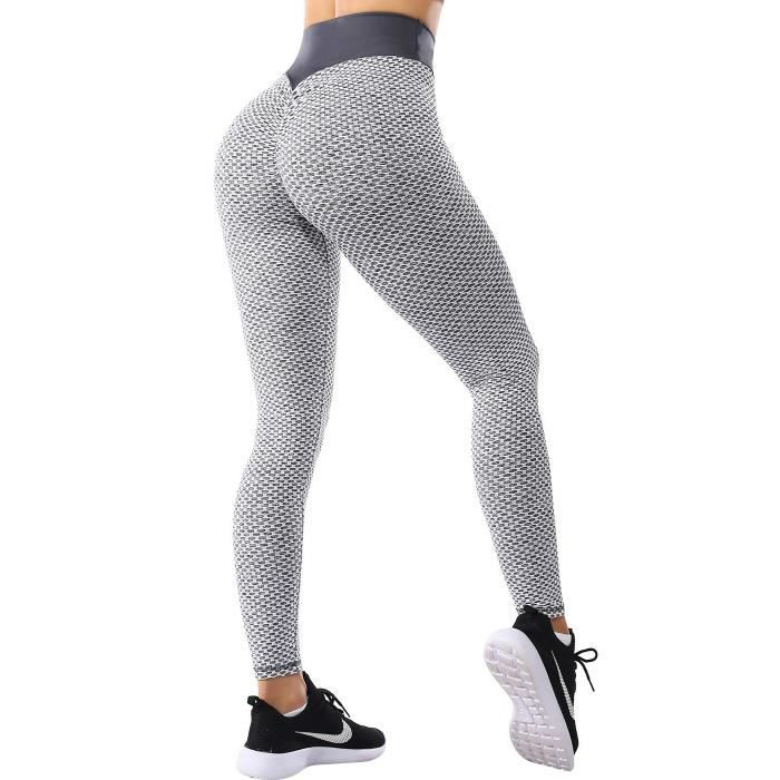 Legging de Sport Anti Cellulite Push Up Butt Lift Pantalon de Compression Taille Haute Pour Yoga Fitness Slim Fit