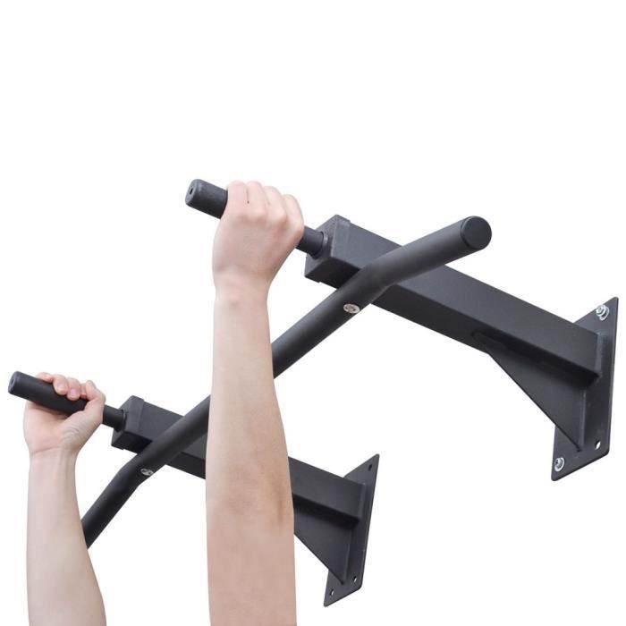 Barre Mural de traction pour fitness Gymnase à la maison 100 kg - Noir - Kaki