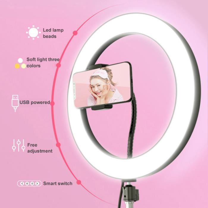 Dimmable LED Studio Fill Light Light Photo Vidéo Lampe annulaire Selfie Stick Ring Fill Light (Sans le trépied)