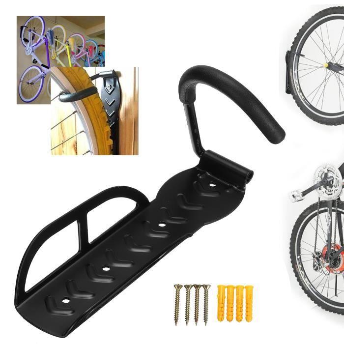 TEMPSA 4Pcs Vertical Mural Montable Cycle de Stockage Crochet Vélo Porte-Rack Stand