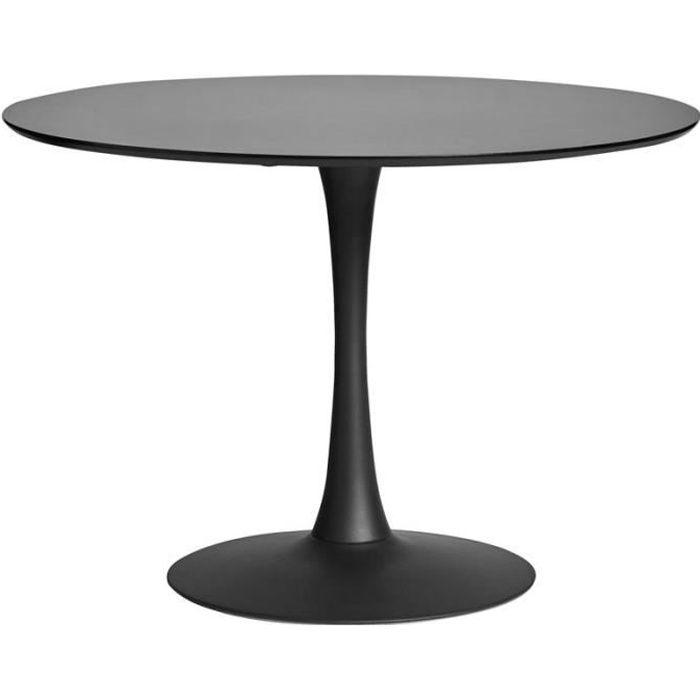 Table de repas ronde Noire pied central - STILL - L 110 x l 110 x H 75
