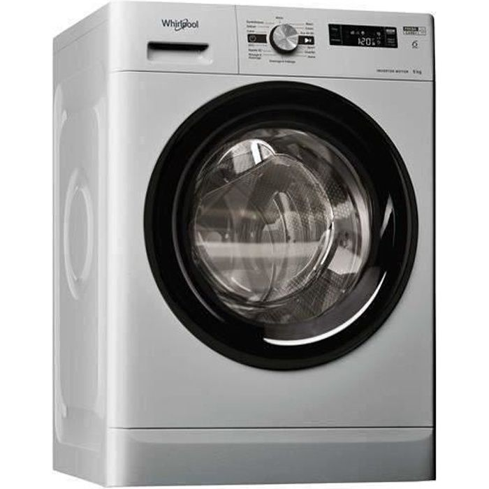 WHIRLPOOL - FFS9248SBFR - Machine à laver Posable Front FRESHCARE 9 kg 1200 trs A+++ SILVER