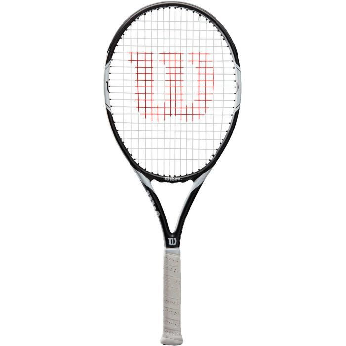 WILSON Raquette tennis Federer Team 105 TNS - Adulte - Noir et gris