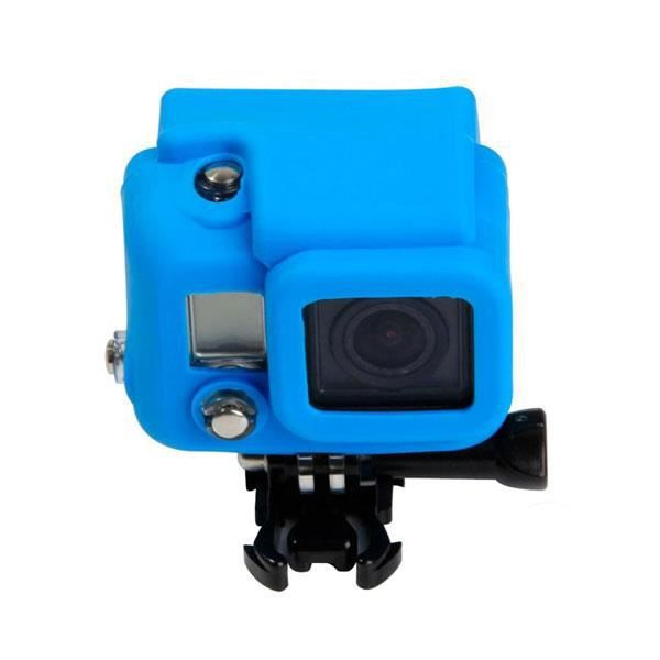 housse silicone gopro hd 3 bleua achat vente housse 201 tui soldes cdiscount