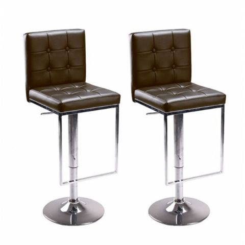tabouret de bar marron x2 ego capitonne achat vente. Black Bedroom Furniture Sets. Home Design Ideas