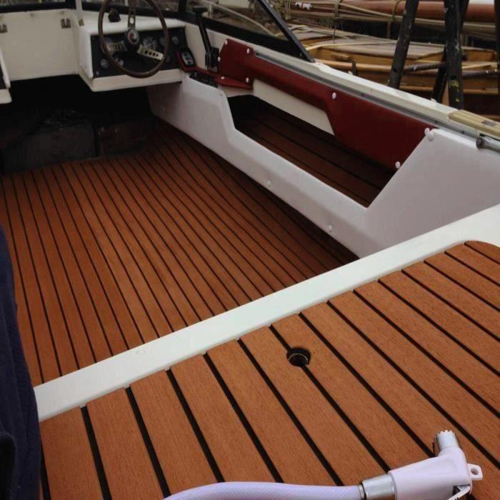 240 x 90 x 0,6 cm rev/êtement de sol de bateau EVA synth/étique pour terrasse de bateau tapis de sol antid/érapant Tapis de sol pour bateau tapis de sol de bateau tapis de sol de bateau