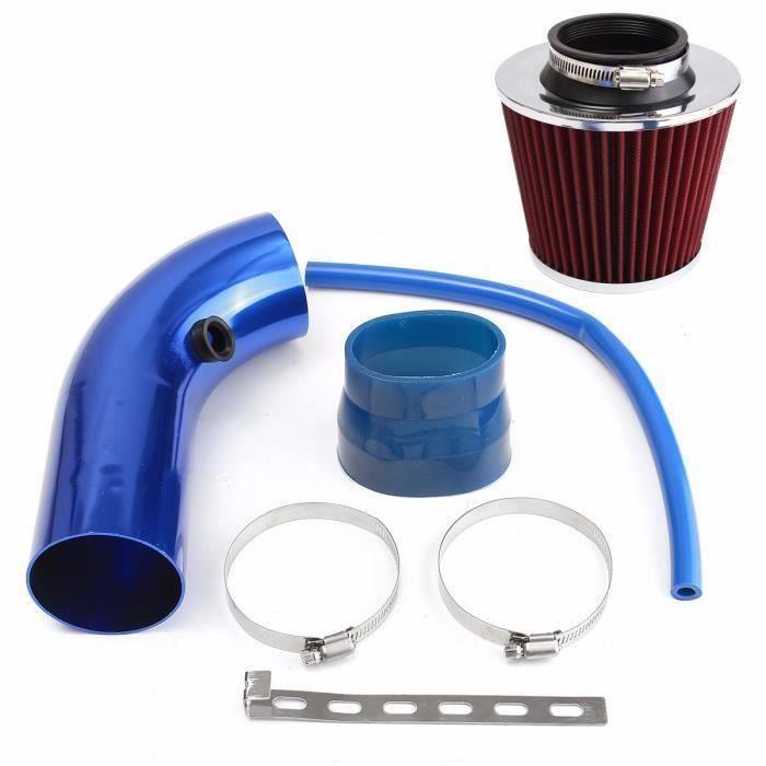 Rouge SODIAL 3 Pouces Filtre dadmission dair Froid Universel pour Voiture Kit dinduction en Aluminium Systeme de Tuyau