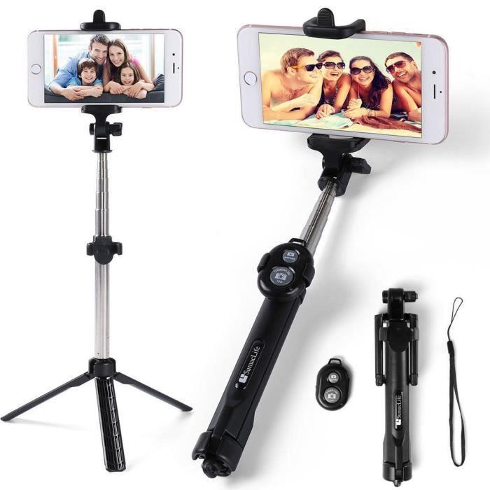 BAGUE ET VIS Selfie Stick Trépied Clip Titulaire Bluetooth Télé