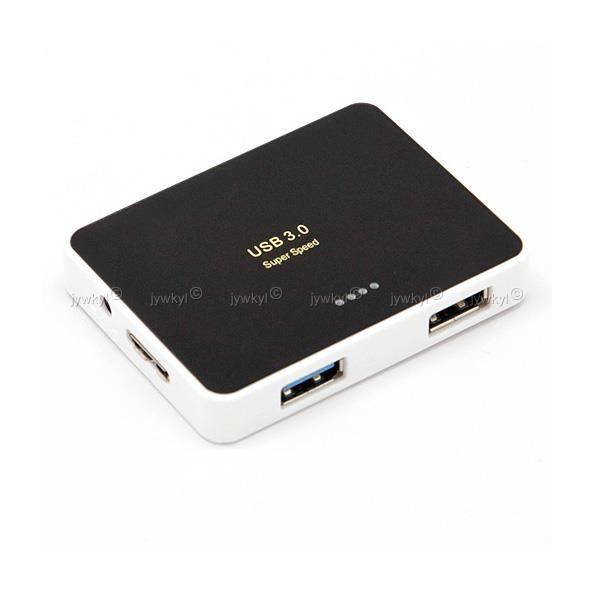 Câble USB Hub USB 4 Ports USB 3.0 Super Speed 5 Gbps Hub Externe B