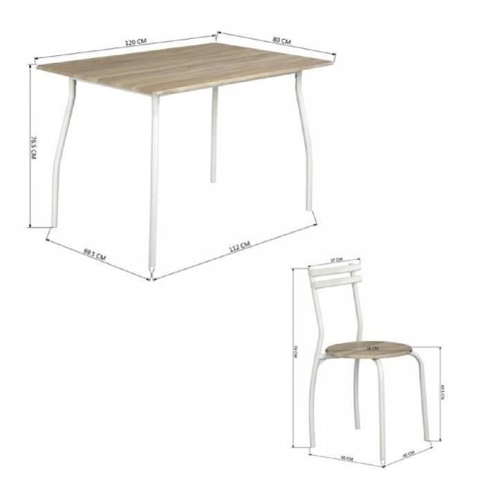 table a manger bois clair achat vente table a manger bois clair pas cher cdiscount. Black Bedroom Furniture Sets. Home Design Ideas