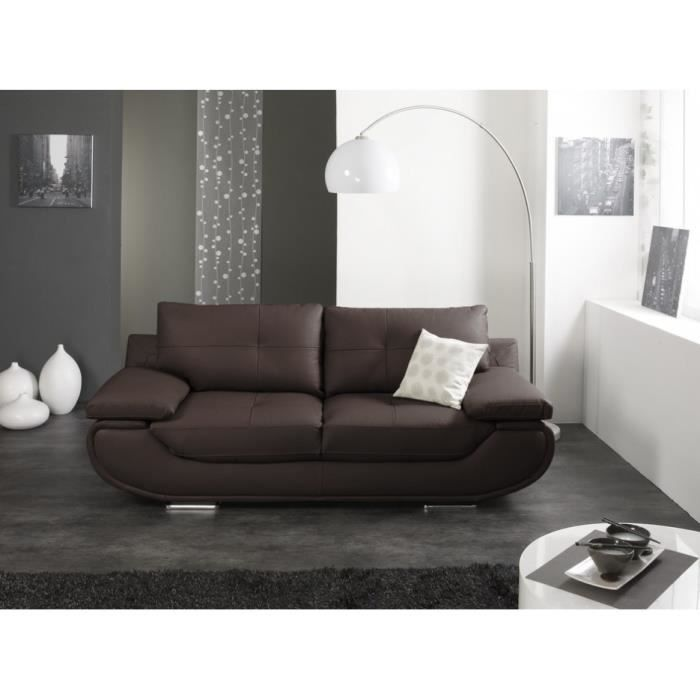 canap sofa divan canap 2 places cuir luxe orgullosa chocolat - Canape Luxe
