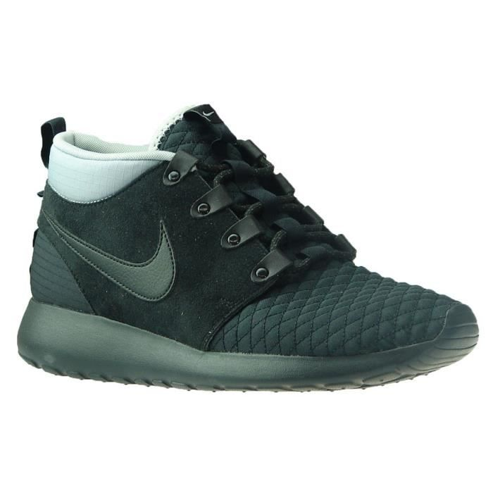 various styles detailed images sports shoes Basket nike roshe run noir - Achat / Vente pas cher
