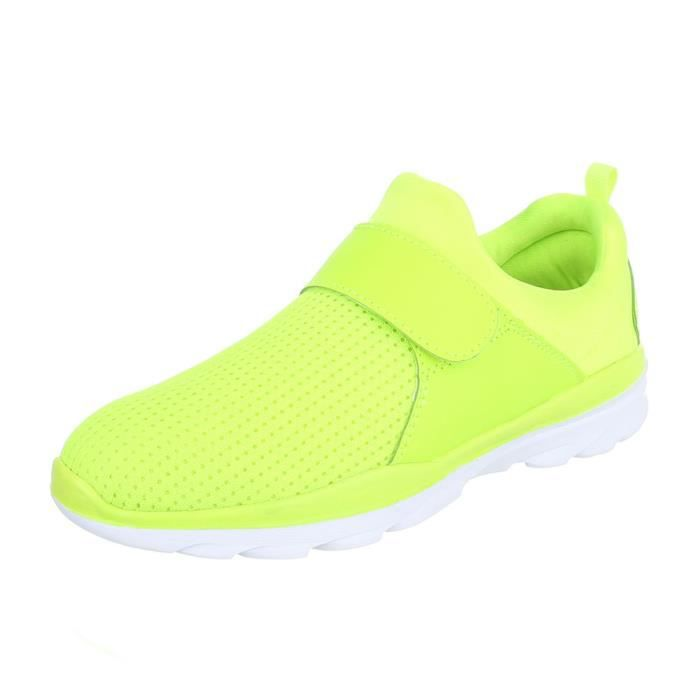 Femme Sneakers 40 Chaussures Neonjaune Sport PXkZui