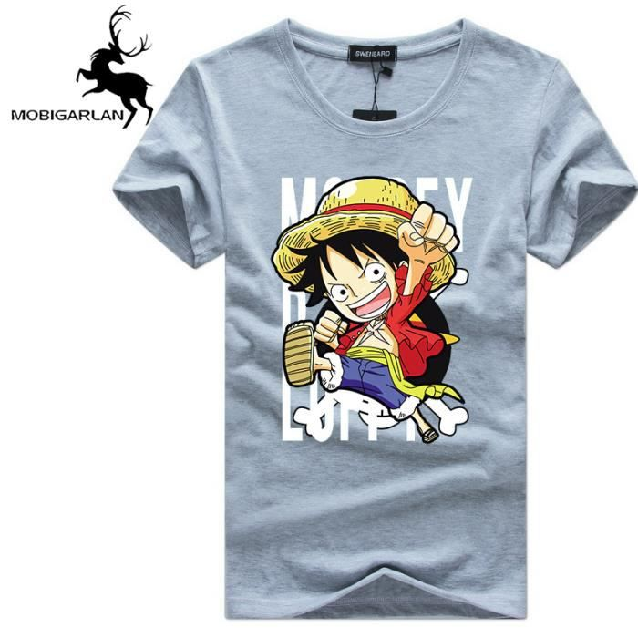 ONE PIECE T shirt homme Col rond cartoon