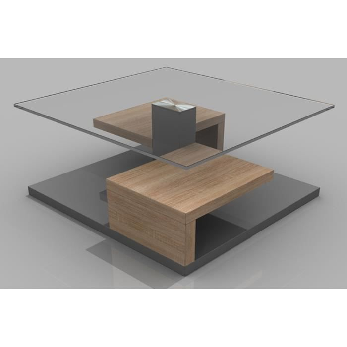 Table basse chene clair maison design - Table basse chene sonoma ...