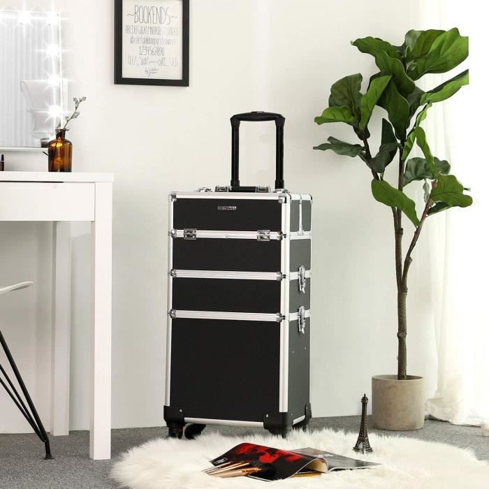 Songmics Mallette Maquillage Trolley 4 In 1 Aluminium Boite A Maquillage Coiffure Nail Cosmetic Beauty Case Professionnel Jhz01b Achat Vente Valise Bagage Songmics Valise Trolley Es Cdiscount