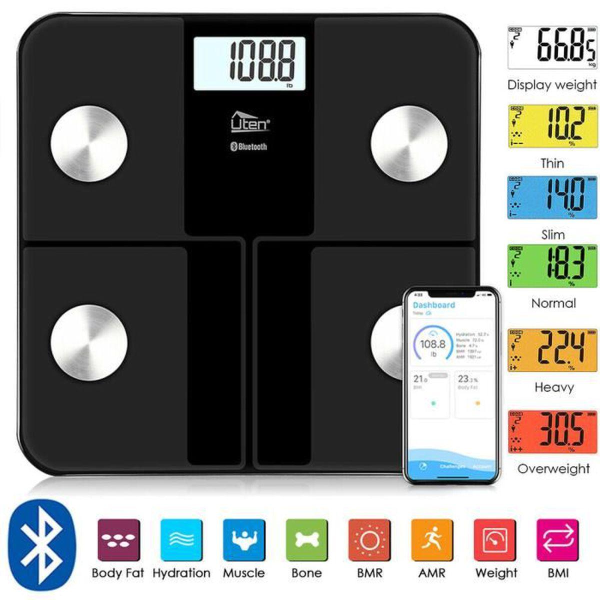 PÈSE-PERSONNE Uten 180KG Pèse Personne LCD Bluetooth Connectée M