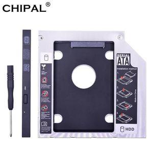 HOUSSE DISQUE DUR EXT. CHIPAL aluminium Optibay 2nd HDD Caddy 9.5mm SATA