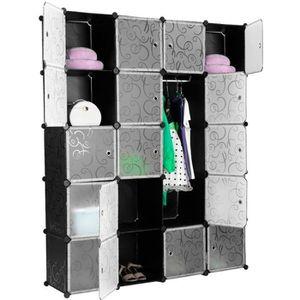 ARMOIRE DE CHAMBRE Armoire Penderie 20 Cubes Modulable Meuble Etagère