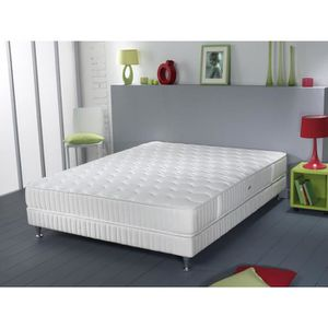 ENSEMBLE LITERIE SIMMONS Ensemble matelas + sommier 140 x 200 - Res