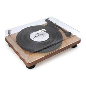 PLATINE VINYLE auna TT Classic WD - Tourne-disque rétro USB Line-
