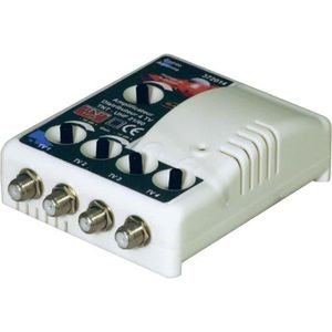 AMPLIFICATEUR DE SIGNAL Ampli TNT 1E/4 Sorties filtré 4G 15 à 35dB Elap 37