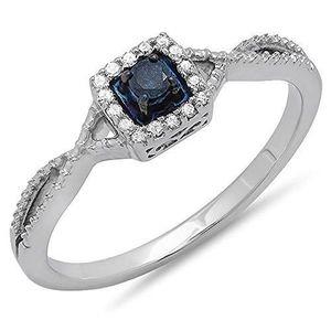 BAGUE - ANNEAU Bague Femme Diamants 0.15 ct  14 ct 585-1000 Or Bl