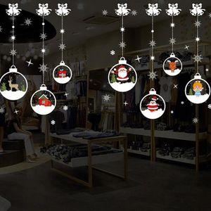 STICKERS DE NOËL Noel salle de sejour Xmas Santa Claus bonhommes de