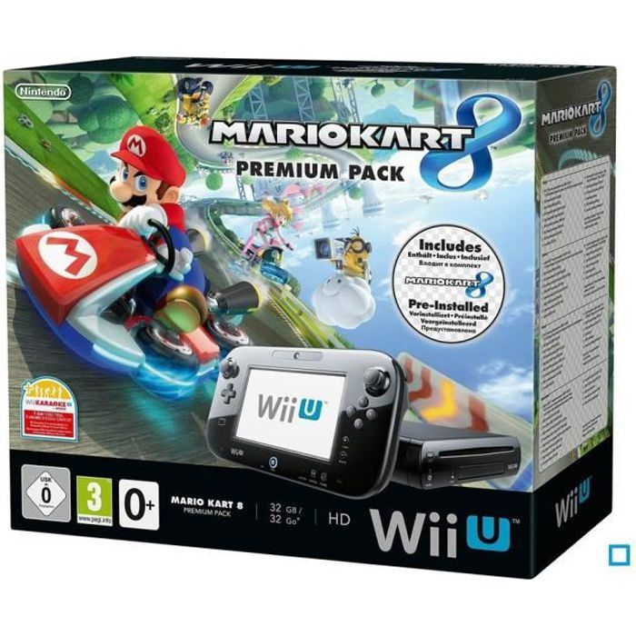 pack premium wii u mario kart 8 pr install achat vente console wii u nouveaut pack wii u. Black Bedroom Furniture Sets. Home Design Ideas