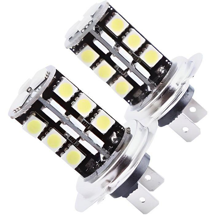 Xuyan 2Pcs H7 Canbus Erreur libre 27 SMD 5050 LED Lampe ampoule de brouillard blanc super brillant